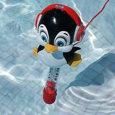 MINI THERMOMETRE PISCINE PINGOUIN COULEUR